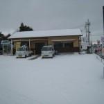 初雪が大雪となりました!